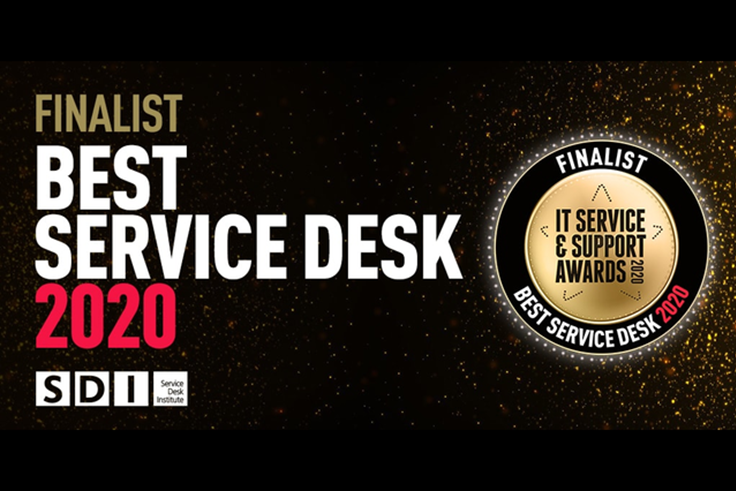 Supporting image: IT team shortlisted for Best Service Desk Award 2020